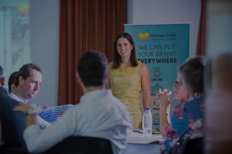 Anna hemmings presenting at Thomas cook summit