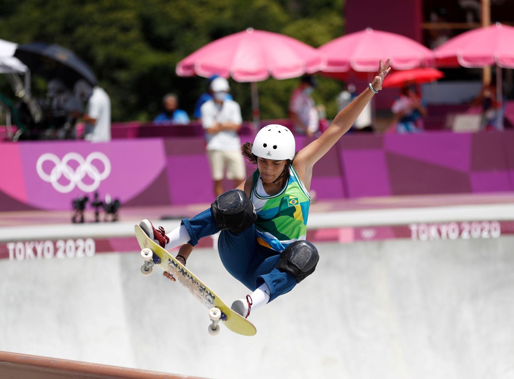 Olympic Medallist skateboarder Rayssa Leal